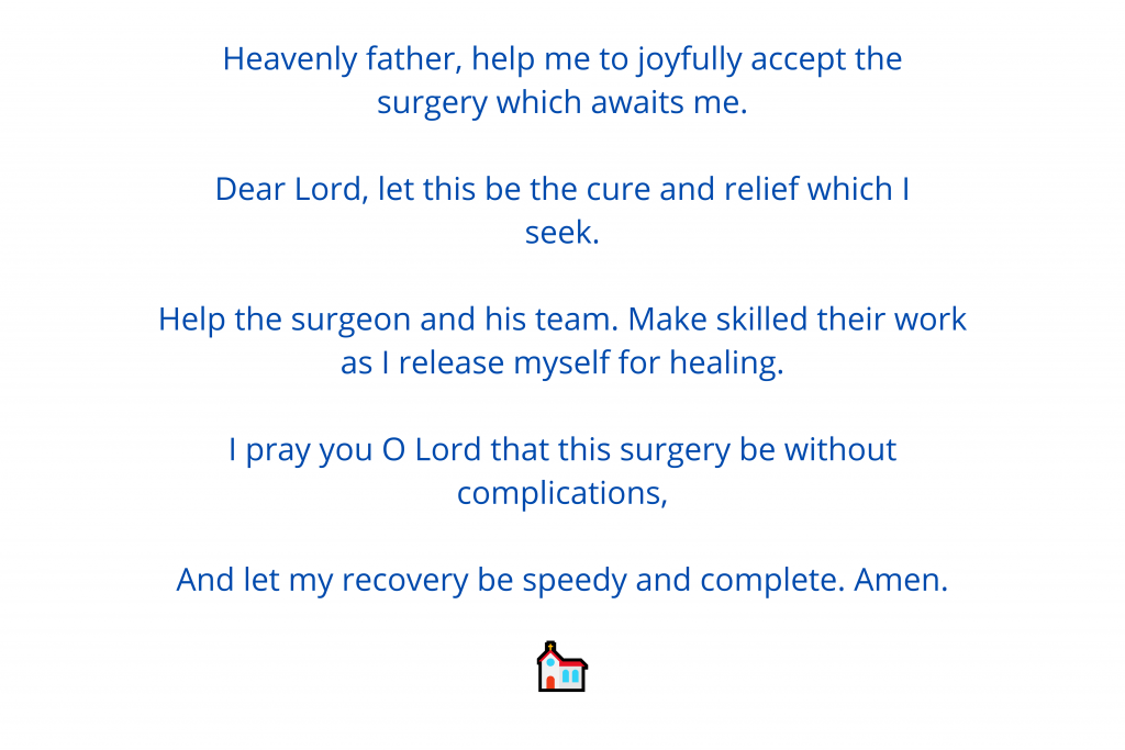 Prayer for surgery 1