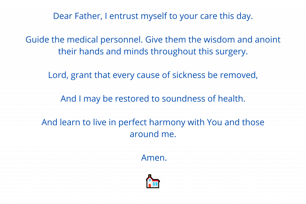 Prayer for recovery