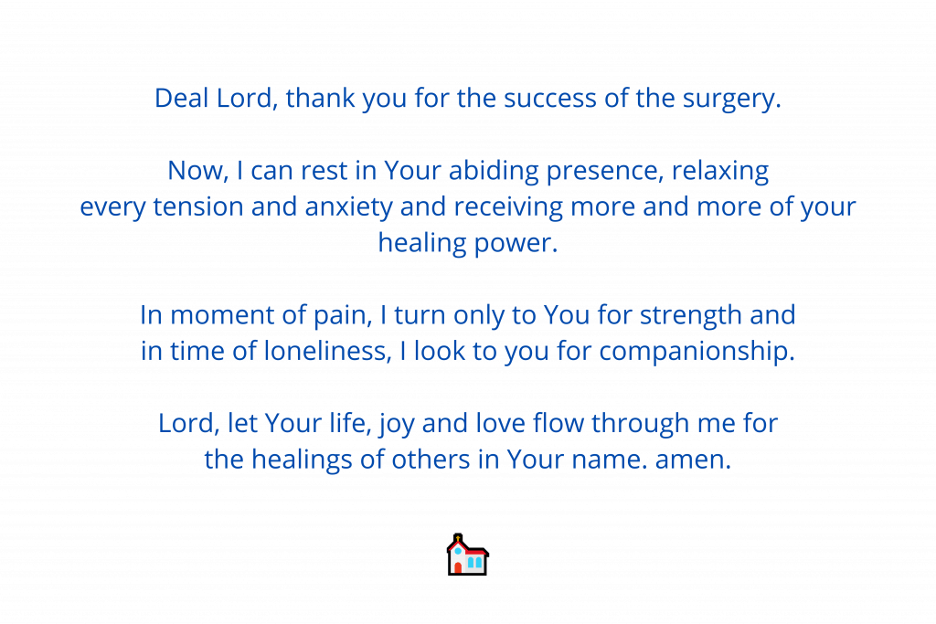 Prayer after surgery