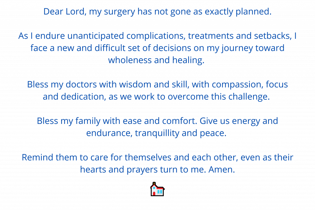 Prayer for surgery during complications