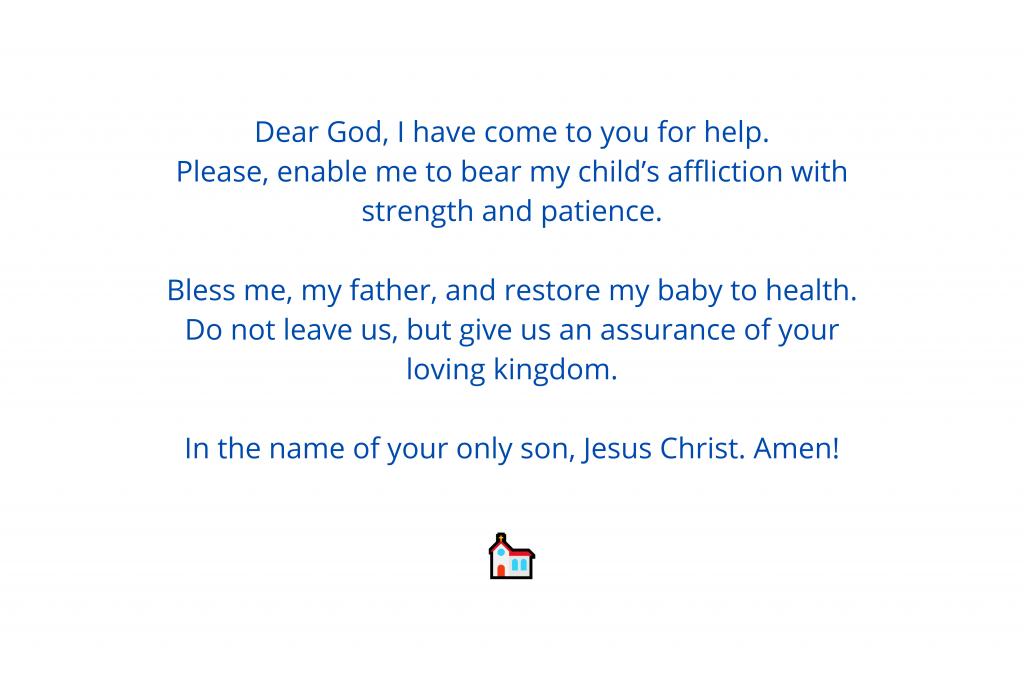 prayers for sick babies