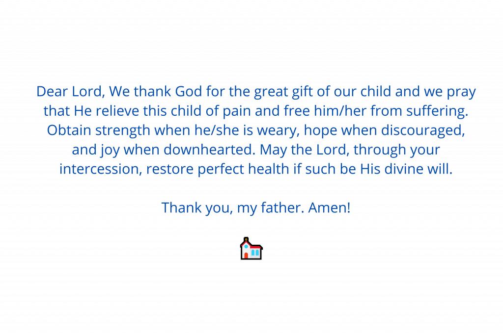 prayers for sick babies 2