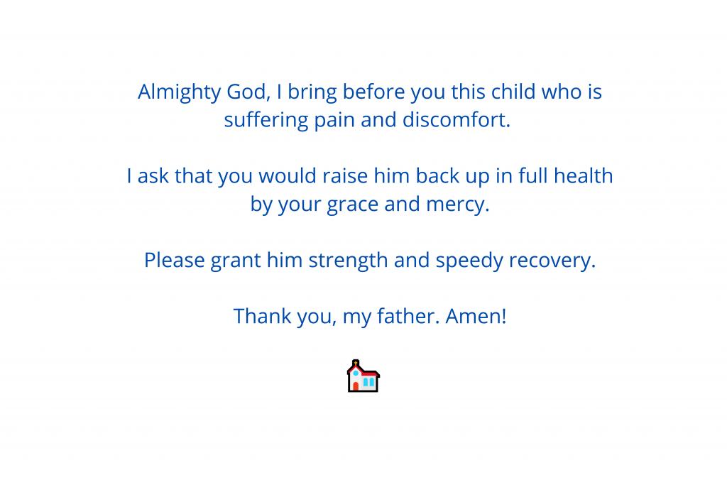 prayers for sick babies 3